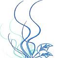 Blue Vine by Svetlana Sewell