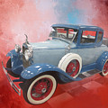 Blue Vintage Car by Elisabeth Lucas