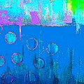 Blue Water And Sky Abstract by Saundra Myles