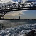 Blue Water Bridge In Winter by Barbara Treaster