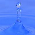 Blue Waterdrop by Heiko Koehrer-Wagner