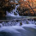 Blue Waterfalls by Jaroslaw Blaminsky