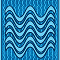 Blue Wave Over Wave Pattern On Gifts Shirts Pillows Tote Bags Phone Cases Shower Curtains Duvet Cove by Navin Joshi