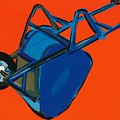 Blue Wheelbarrow by Sarah Gillard