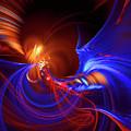 Blue Whirlpool by Marfffa Art