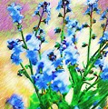 Blue Wildflowers by Donna Bentley