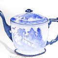 Blue Willow Teapot by Lisa Schorr
