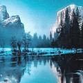 Blue Winter Fantasy. L A by Gert J Rheeders