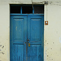 Blue Wood Door In A Building by Robert Hamm