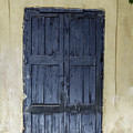 Blue Wood Door by Tsafreer Bernstein