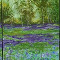 Bluebell Meadow Triptych by Lizzy Forrester