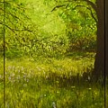 Bluebell Wood In Spring Triptych  by Lizzy Forrester