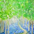 Bluebell Wood With Butterflies by Karen Jane Jones