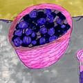 Blueberries In A Bowl by Elinor Helen Rakowski