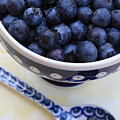 Blueberries In Polish Pottery Bowl by Carol Groenen