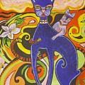 Blueberry Cat by Elizabeth Bonanza