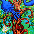 Bluebird In Tree by Genevieve Esson