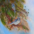 Bluejays by Karen Lipek