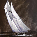 Bluenose At Night Coming by Richard Le Page