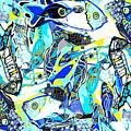 Blues Fishes by Natalia Kuruch