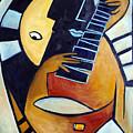 Blues Guitar by Valerie Vescovi