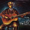 Blues Guitarist by Don Locke