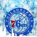 bluish backgroud for Philadelphia basket by Alberto RuiZ