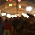 Blurred Delhi Street Scene At Night by Ndp