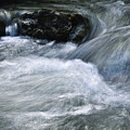 Blurred Detail Of A Mountain Stream by Jozef Jankola