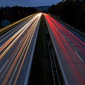 Blurred Lights Lines On Highway by Hamik ArtS