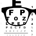 Blurry Eye Test Chart by Bigalbaloo Stock