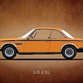 Bmw Csl 1972 by Mark Rogan