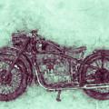 Bmw R32 - 1919 - Motorcycle Poster 3 - Automotive Art by Studio Grafiikka