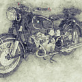 Bmw R60/2 - 1956 - Bmw Motorcycles 1 - Vintage Motorcycle Poster - Automotive Art by Studio Grafiikka