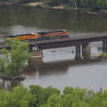 Bnsf Train 6686 A by John Brueske