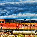 Bnsf Train Hdr by Randy Harris