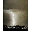 Bo Trek Lightning Bw Fine Art Poster Print by James BO Insogna