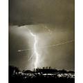 Bo Trek Lightning Bw Fine Art Poster Print by James BO  Insogna