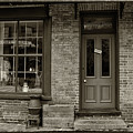 Boarding House Sepia With Border by Karen Adams