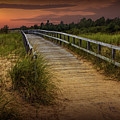 Boardwalk Along The Beach At Sunset by Randall Nyhof