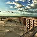 Boardwalk On The Beach by Michael Thomas