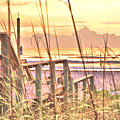 Boardwalk To An Atlantic Sunrise by Gordon Elwell