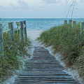 Boardwalk To The Beach by Kim Hojnacki