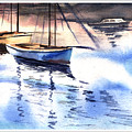 Boat And The River by Anil Nene