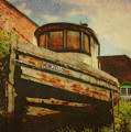 Boat At Apalachicola by Toni Hopper