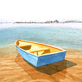 Boat At Low Tide by Carolynn Fischel