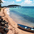 Boat Beach Vieques by Thomas R Fletcher