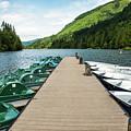 Boat Fun At Silver Lake by Tom Cochran