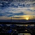 Boat Harbor At Sunset by Dan Pearce