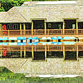 Boat House At Verona Park  by Geraldine Scull